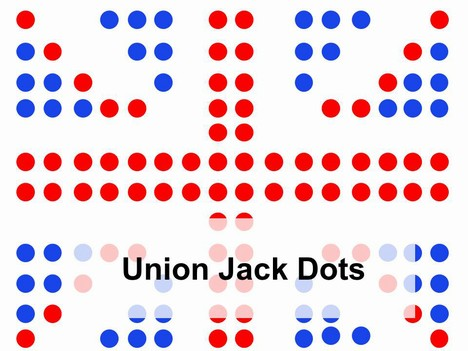Union Jack Dots Template