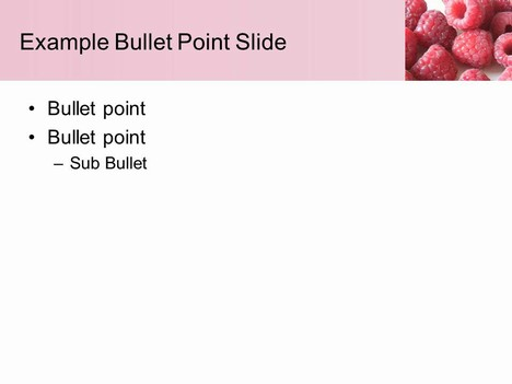Raspberry PowerPoint Template inside page
