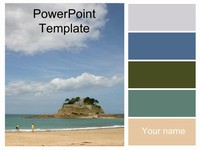 The Island PowerPoint Template thumbnail