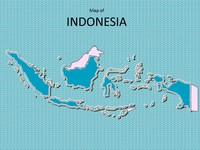 Map of Indonesia Template