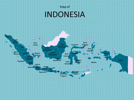 Map of Indonesia Template inside page