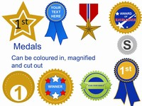 Medals Clipart Template