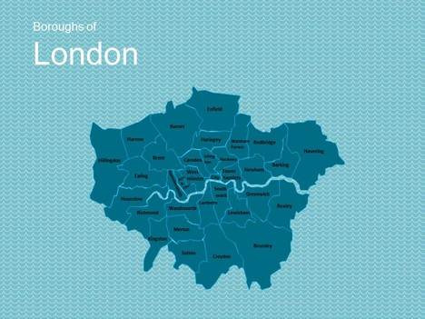 Map of London Template inside page