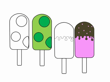 Ice Lollies Template inside page