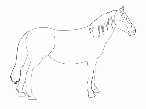 Horse Clip Art Template inside page