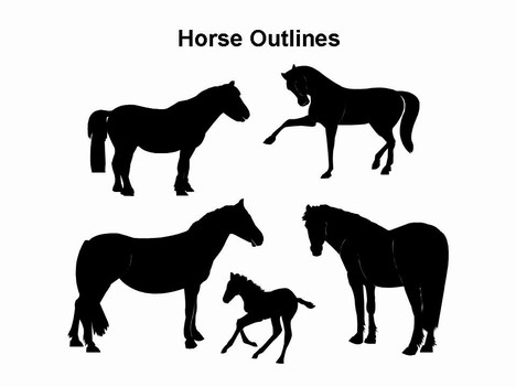 Horse Outlines Template