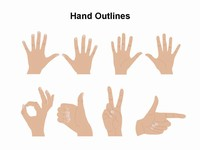 Hand Signs Template thumbnail