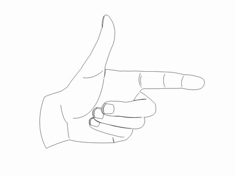 Hand Signs Template inside page