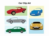 Cars Clip Art Template