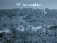 Winter PowerPoint Template thumbnail