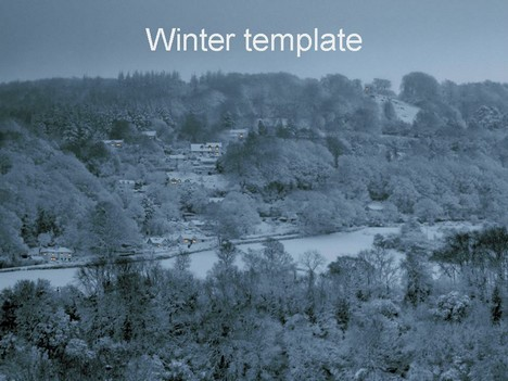 winter powerpoint template, Powerpoint templates