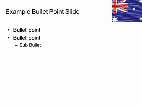 Australian Flag Template inside page