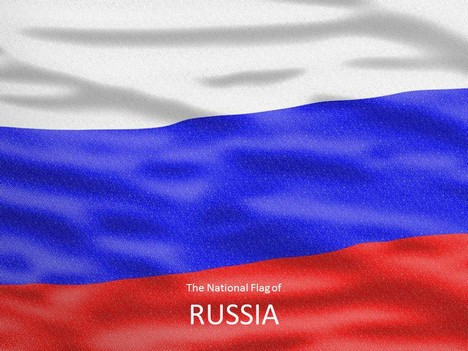 Flag of Russia Template Physics Black And White
