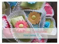 Flower Cake PowerPoint Template thumbnail