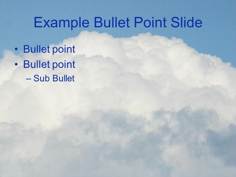 Fluffy Clouds Template inside page