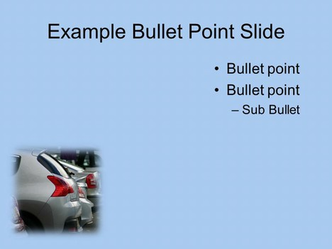 Parked Cars PowerPoint Template inside page