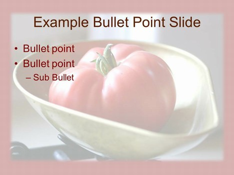 Ripe Tomato PowerPoint Template inside page
