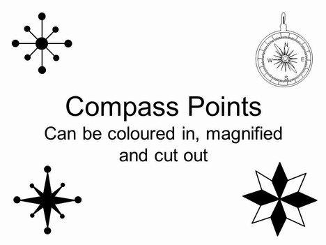 Compass Points PowerPoint 템플릿