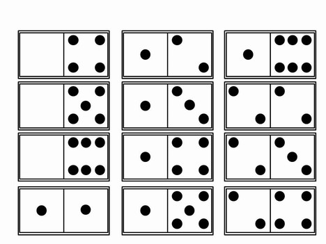Dominoes Template inside page