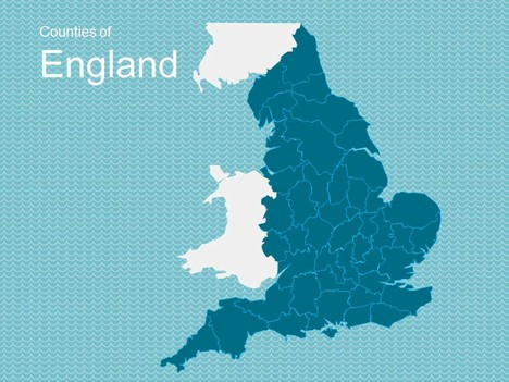 Map of england template toneelgroepblik Image collections