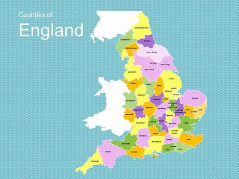 Map of England Template inside page