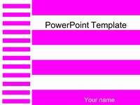 Pink Stripes Template