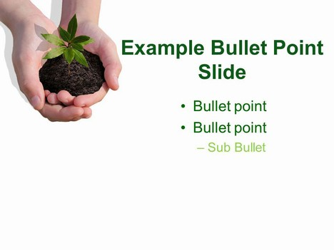 Plant PowerPoint Template inside page