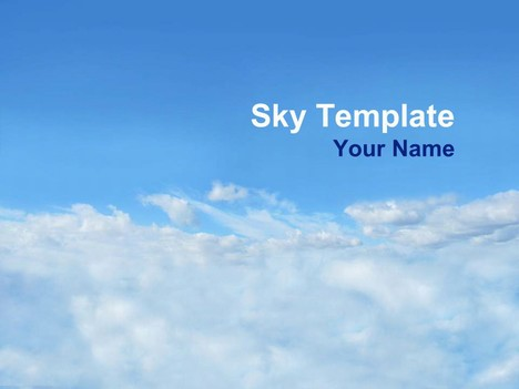 Sky Powerpoint Template