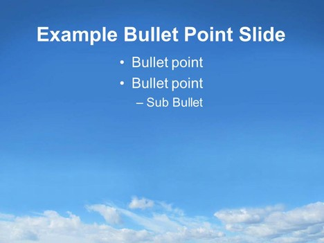 Sky PowerPoint Template inside page