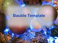 Christmas Tree Baubles Template