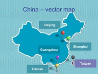 Free PowerPoint map of China