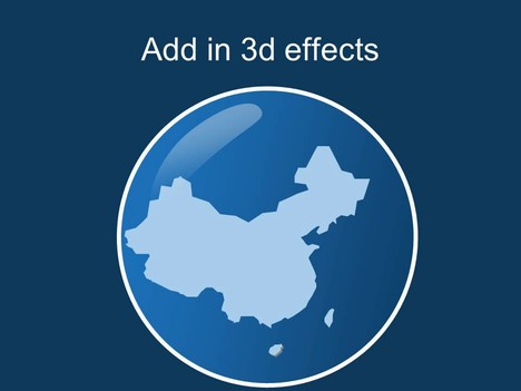 Free PowerPoint map of China inside page