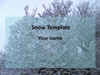 Snow PowerPoint Template thumbnail