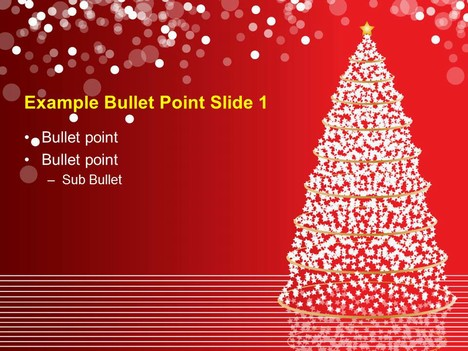 christmas tree lights template, Powerpoint templates