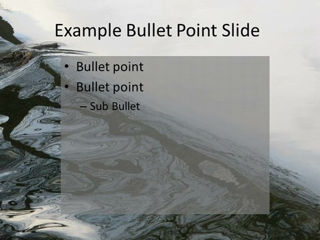Water PowerPoint Template inside page