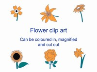 Flower Outlines Clip Art