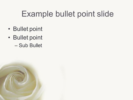 White Rose PowerPoint Template inside page