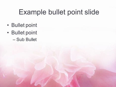 Bright Flower PowerPoint Template inside page