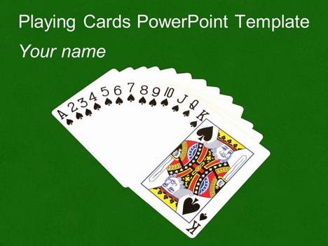 Playing Cards Outline Playing Cards Powerpoint