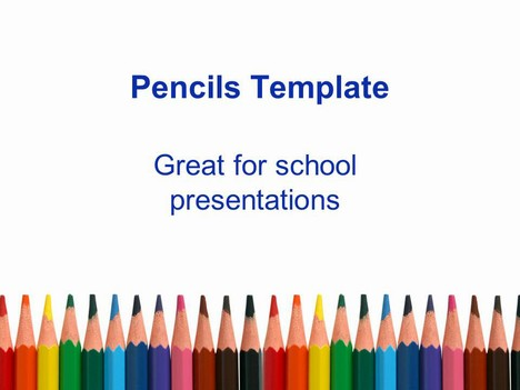 57190 free powerpoint templates from presentation magazine row of pencils toneelgroepblik Image collections
