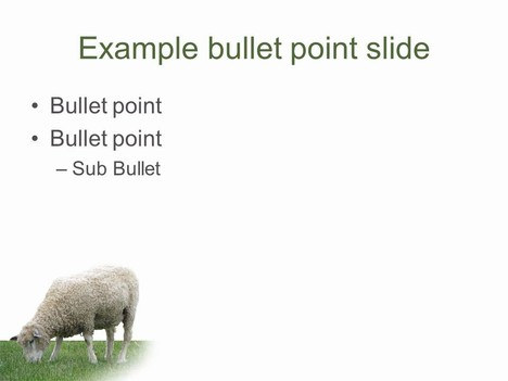 Woolly Sheep PowerPoint Template inside page