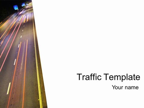 traffic template (white), Modern powerpoint