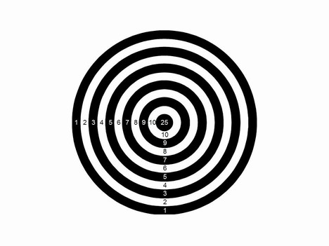bullseye template printable - target powerpoint template
