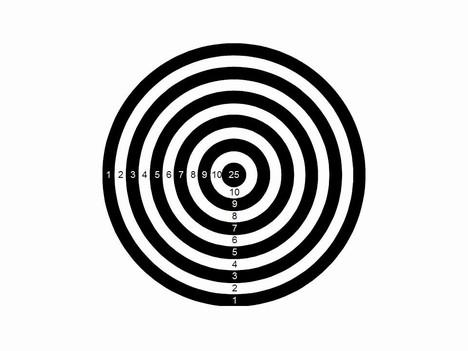 target powerpoint template, Modern powerpoint