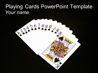 Playing Cards Template on a black background
