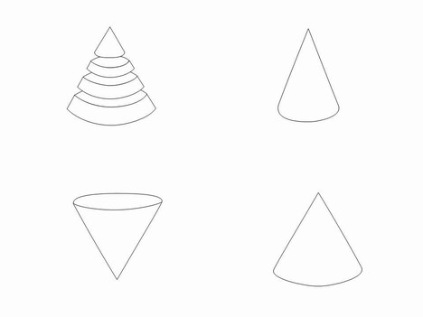 Cone outline clip art for Dunce hat template