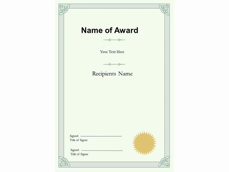 portrait certificate template, Powerpoint templates