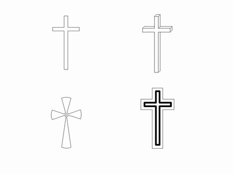 Cross Outlines Clip Art inside page