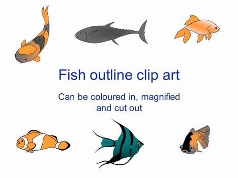 fish outline clip art, Modern powerpoint
