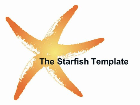 The Starfish PowerPoint Template (graphic)